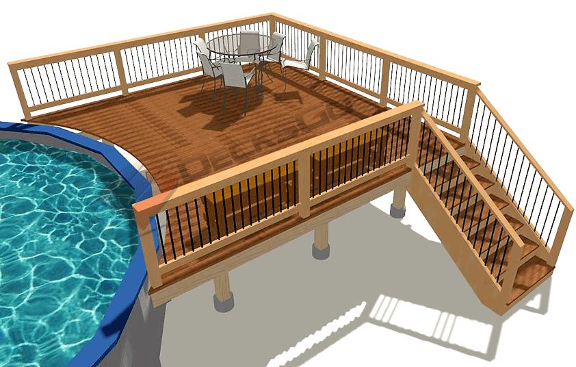 Basic Rectangle Pool Deck Decksgo Plans